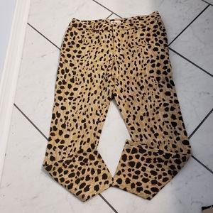 Merona leopard print fit 3 straight leg pant.